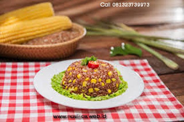 Resep nasi merah jagung gurih nasi box kawah putih ciwidey