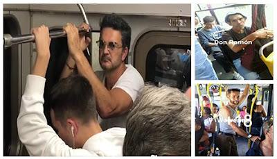 Parecidos de famosos en el transporte público