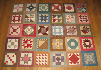 blocks for Cheri Payne's Everyday Patchwork sampler quilt