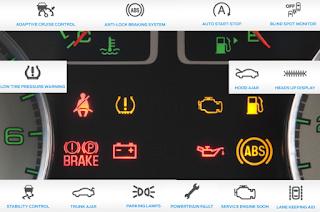 Ford Escape dashboard symbols