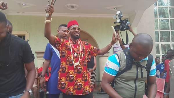 D'banj Bags Chieftaincy Title in Imo State, Rocks Igbo Native Attire (Photos)