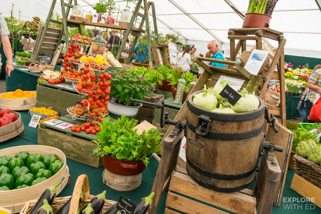 Vegetable Stall at The RHS Flower Show