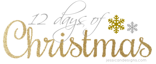 graphic relating to Words to 12 Days of Christmas Printable identify jessicaNdesigns: 12 Times of Xmas: Absolutely free, Printable Reward Tags