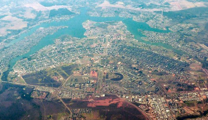 watching Brasilia from an aeroplane