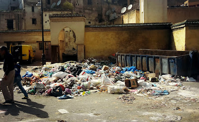 Fes, Morocco, garbage