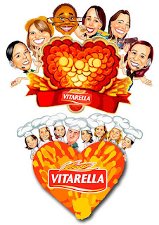 logotipo com mascotes da vitarella