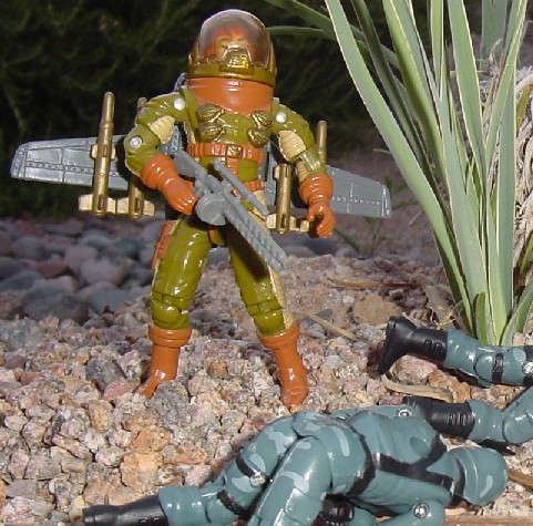 1991 General Hawk, Jet Pack, 2005 Night Watch Trooper