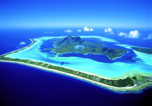 bora bora aerial photo map