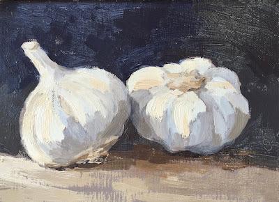 #69 'Garlic Bulbs' 5×7″