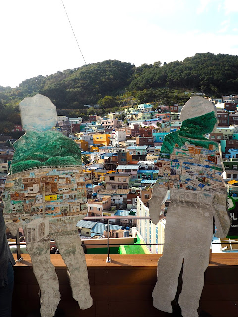 """Becoming One With Gamcheon"" art installation in Gamcheon Village, Busan, South Korea"