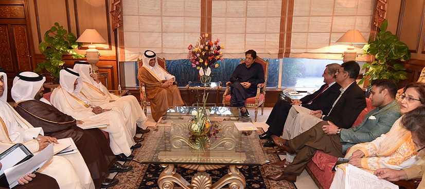 Prime Minister Of Pakistan Imran Khan, Qatari Foreign Minister Discuss Bilateral Trade, Investment