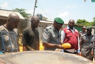 Photos: Nigerian Customs Apprehends Smugglers Who Hid Indian Hemp Inside Crayfish