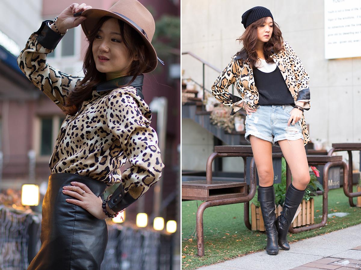 разные образы, леопардовая рубашка, сочетание леопардовой рубашки, корея,Сеуле, стиль, тренд, закупщик в корее, фешнблогер, фешн блогер, модная, на тренде
