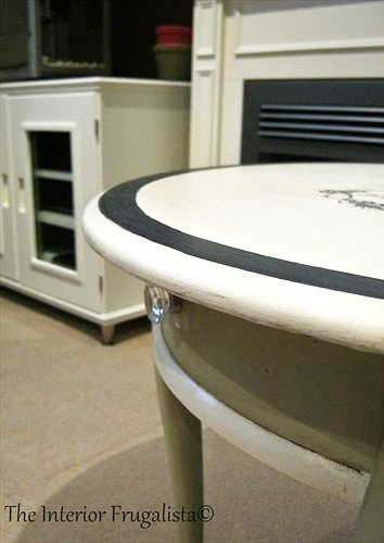 Curbside Queen Anne Table chalk painted