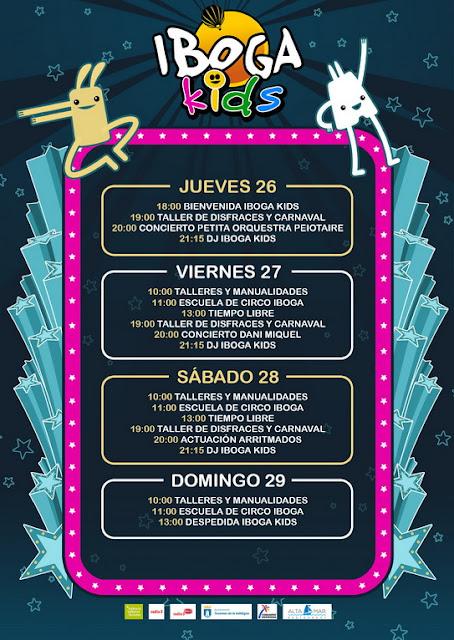 Horarios de Iboga Kids 2018