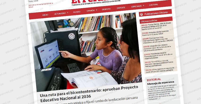 UNA RUTA PARA EL BICENTENTENARIO: Conoce el Proyecto Educativo Nacional al 2036