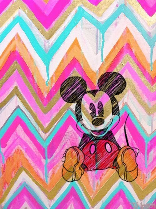 Iphone 5 Wallpaper Gossip Girl Mickey Colors Papel De Parede Imagem De Fundo