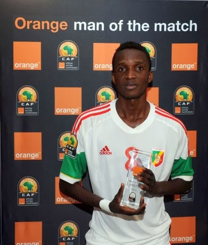 Binguila, man of the match CHAN 2014