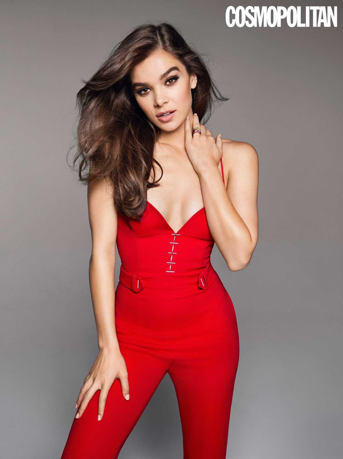 Hailee Seinfeld wore a jumpsuit for Cosmopolitan to talk about her first kiss at age 11 while promoting the film Pitch Perfect 3