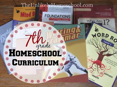 7th Grade Homeschool Curriculum {The Unlikely Homeschool}