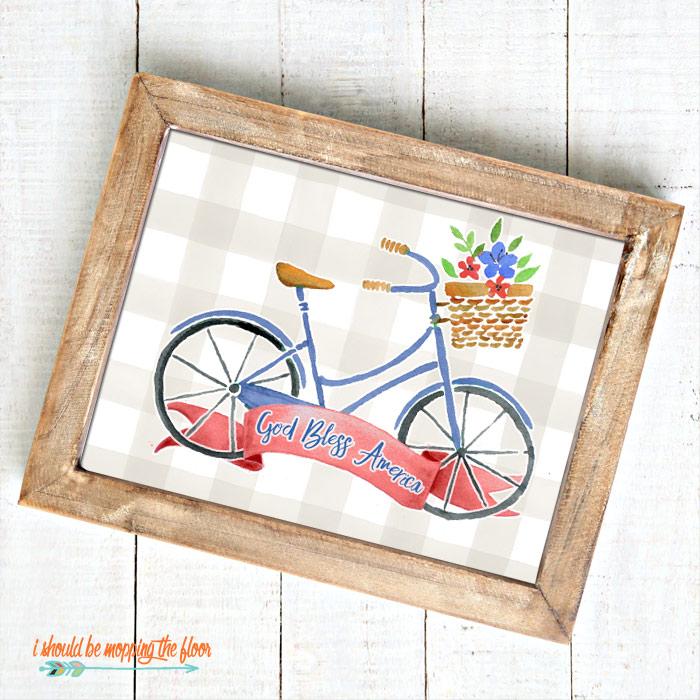 Buffalo Check Bike Printable
