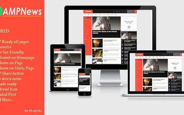 amp news kumpulan template amp blogger