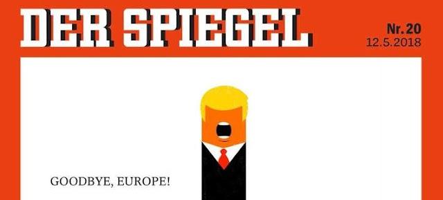 Καυστικό εξώφυλλο του Spiegel: Ο Τραμπ υψώνει το μεσαίο δάχτυλο στην Ευρώπη