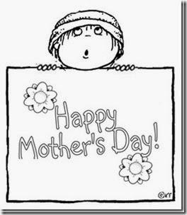 Colorear dibujos Happy mothers Day