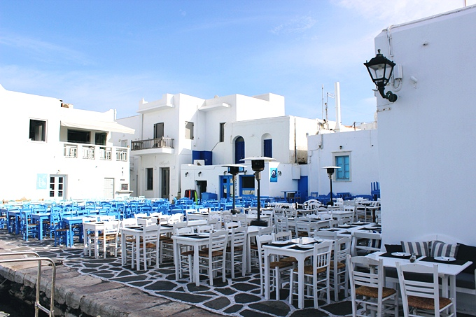 Photos of Naoussa village taverns and restaurants in Paros