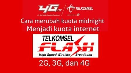 Cara Mengubah Kuota Malam Menjadi Siang (24 Jam) Telkomsel, Indosat, Tri