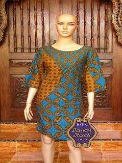 contoh model baju batik kerja wanita modern