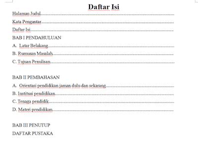 Membuat Daftar Isi Otomatis Di Ms Word Devira Prisa