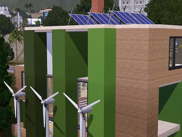 maison panneau solaire sims 3