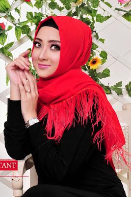 jilbab satin velvet hijab berbulu