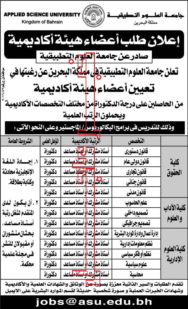 """وظائف مملكة البحرين """" للمصريين """" منشور اليوم بجريدة الاهرام والتقديم على الانترنت"""