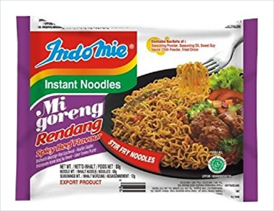 Indonesia Indomie Instant Fried Noodles Rendang Flavour