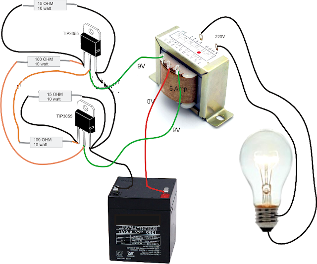 12v Dc To 9v Converter Circuit Diagram Fujitsu Ten 86100 Wiring Rangkaian Sederhana Inverter Ke Ac Anti Njlimet - Cara Tekno