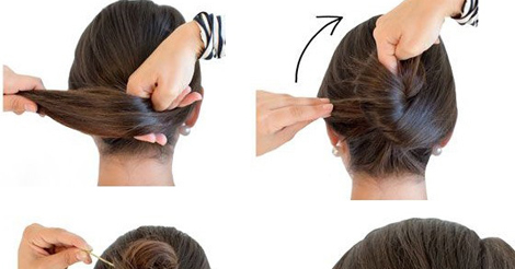 french hair style step by step twisty bun hairstyle step by step entertainment 7325 | twisty%2B%25281%2529