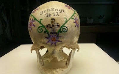 Mysterious painted skull found in Vienna