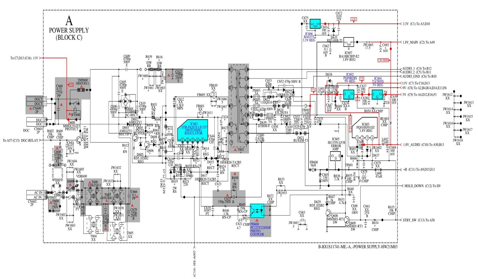 Electro Help  Kv Hw21m50  U2013 Sony Trinitron Crt Tv  U2013 Circuit