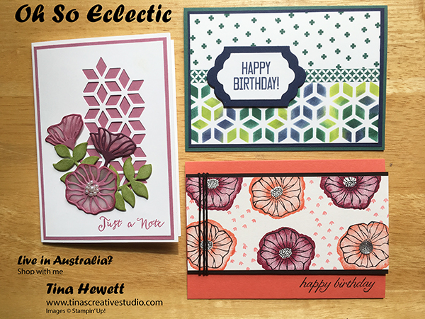 Oh So Eclectic card class from Tina's Creative Studio