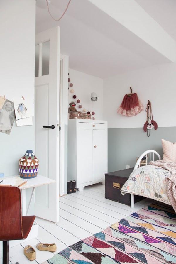escritorio alfombra dormitorio niña
