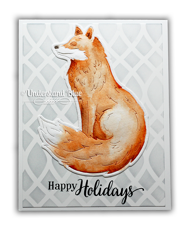 Hero Arts Paper Layering Fox by Understand Blue + Giveaway