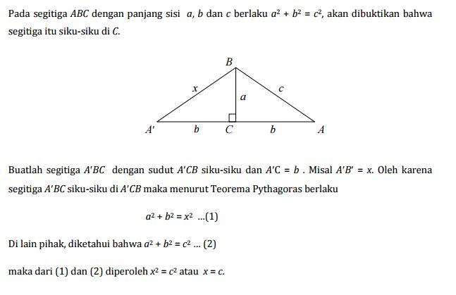 Kebalikan Teorema Pythagoras