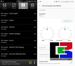 aplikasi pemutar mp3 hp android audio player android