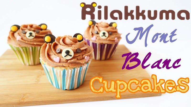 Rilakkuma Mont Blanc Cupcakes 鬆弛熊蒙布朗蛋糕