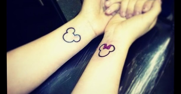 166cd09e9 Matching Tattoo Ideas: Minnie and mickey mouse couple tattoo