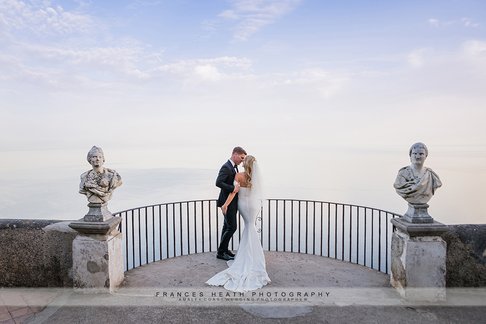 Wedding at Villa Cimbrone on infinity terrace