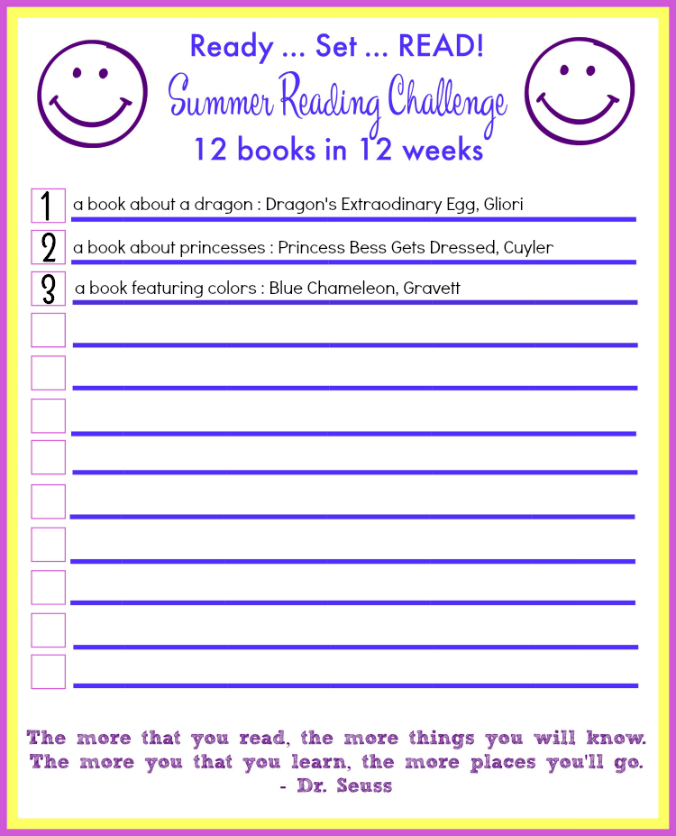 Summer Reading Challenge - first check in