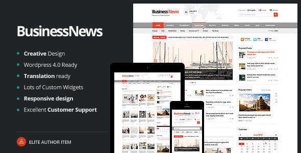 Business News v1.5 - Responsive Magazine, News, Blog Theme - News blog